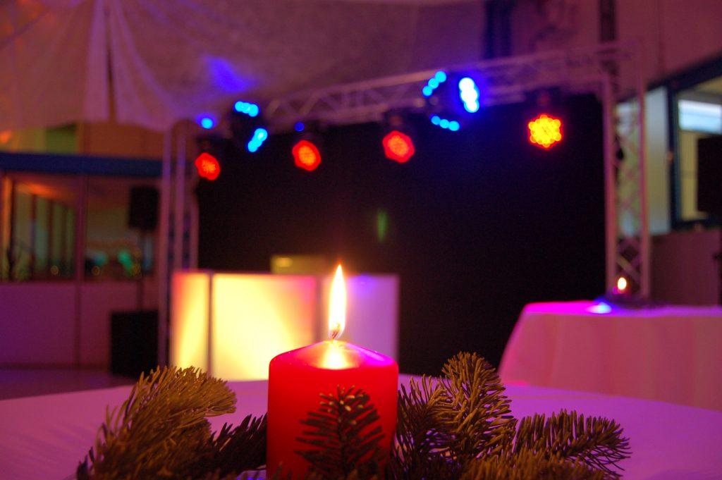 Dj Aufbau bei einer Weihnachtsfeier in Luxemburg