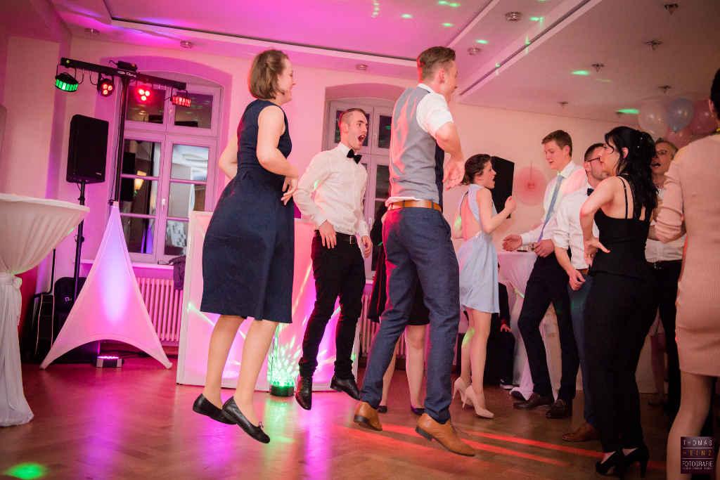 Tanzfläsche einer Hochzeitsfeier